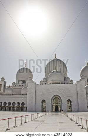 The Entrance To Sheikh Zayed Mosque