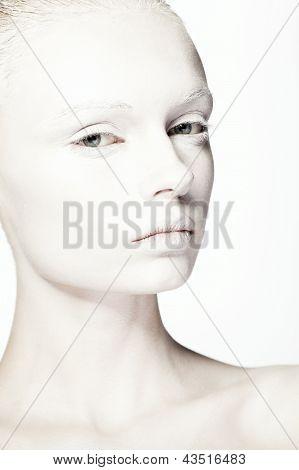beautiful girl fashion studio portrait