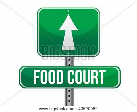 Food Court Road Sign
