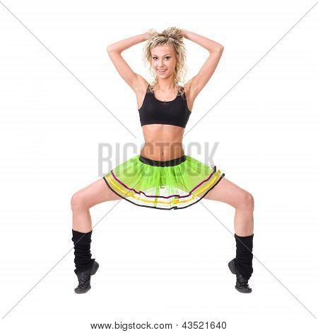 fitness woman posing