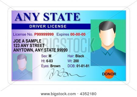 Driver License Card