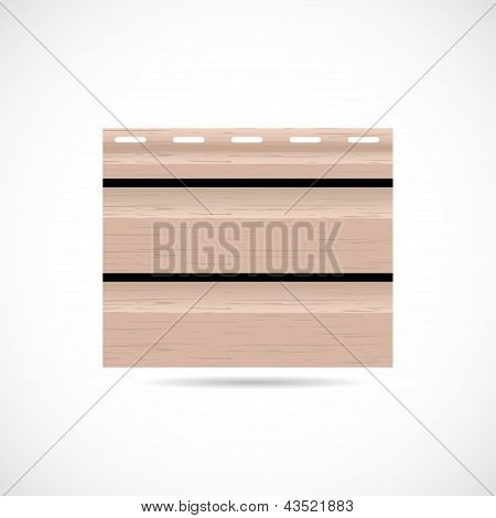 Siding Texture Sample Small Icon Beige Color