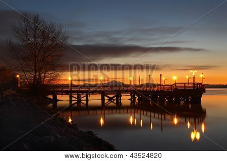 Fishing Pier Morning, Fraser River