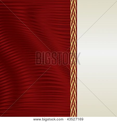 Red And Ecru Background