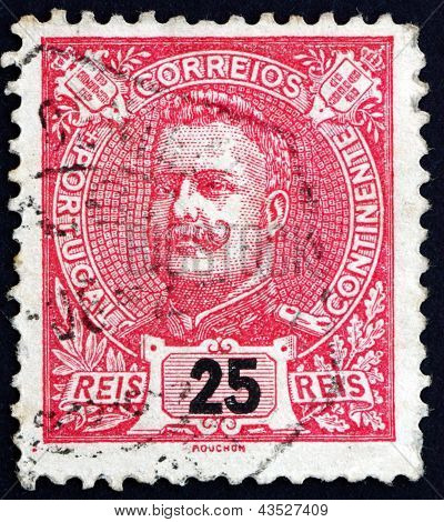 Postage Stamp Portugal 1899 King Carlos, King Of Portugal