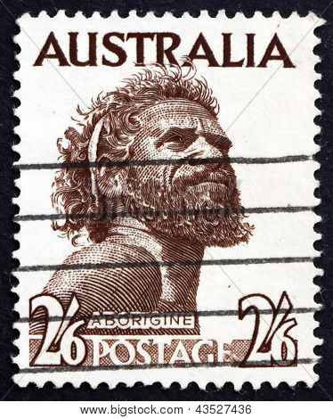 Postage Stamp Australia 1952 Aborigine