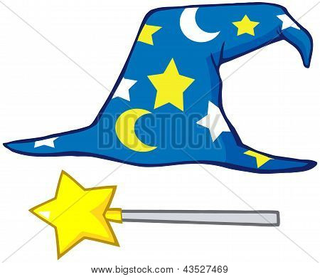 Wizard Hat And Magic Stick