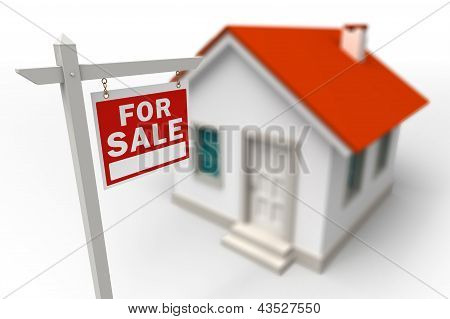 Home For Sale Real Estate Red Sign