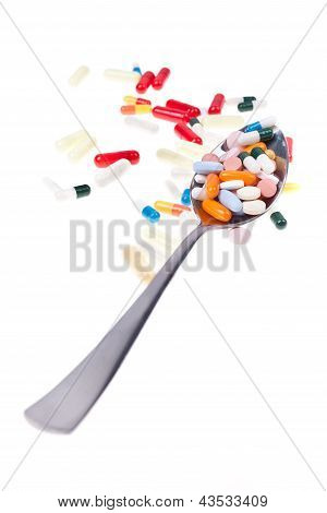 Spoon Of Pills Vertical