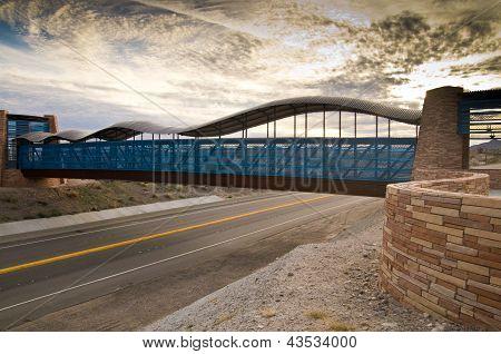 Modern Bridge At Dusk