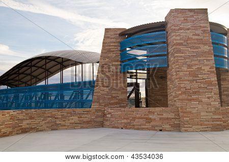 Entrance to Pedestrian Bridge