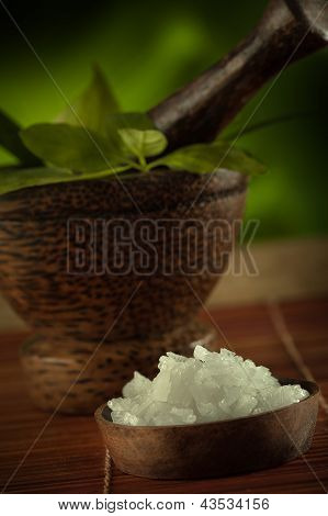mortar and salt