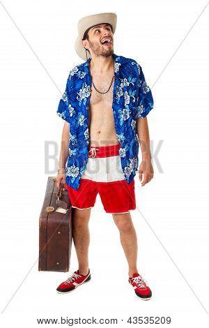 Cheerful Tourist