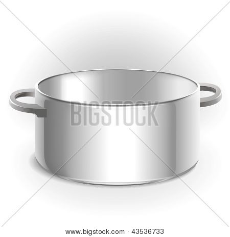 Empty metal pot