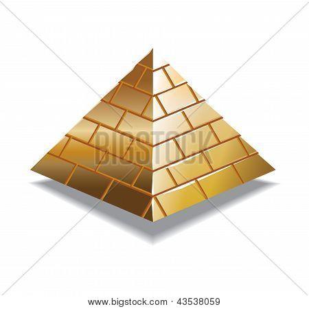 Gold pyramid