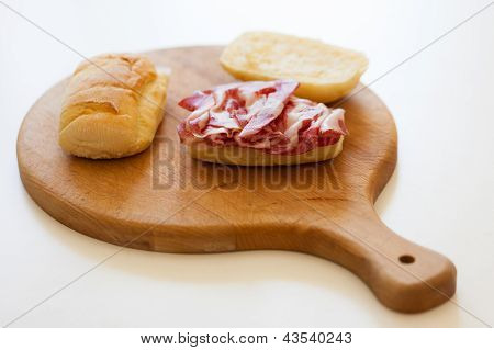 Sandwich On Cutting Board