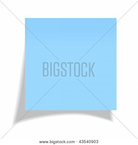 Vector blue sticker