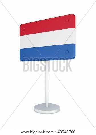 Bunner with flag of Netherlands.