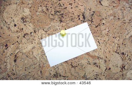 Bulletin Board With White Card (Your Message Here)