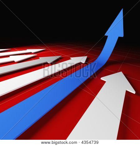 3D Financial Arrow