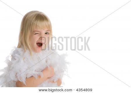 Little Girl Winking