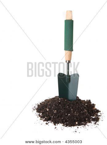 Garden Trowel Tool Standing Upright