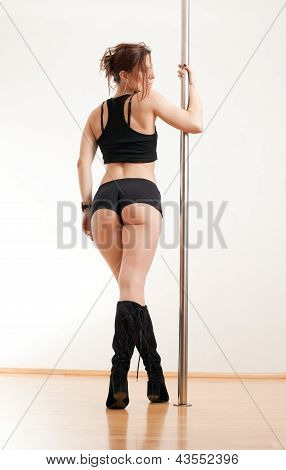 Body of the woman and pole