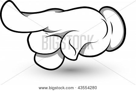 Cartoon Hand - Finger Pointing Art - Vector Illustration