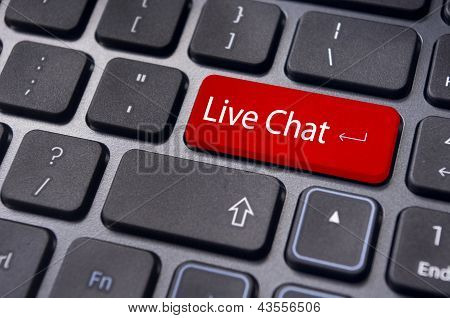 A Message For Keyboard, For Live Chat Support Concepts