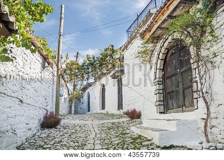 Cobbled Street In Berat Albania