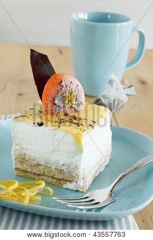 Lemon Bavaroise With Cookie On Top