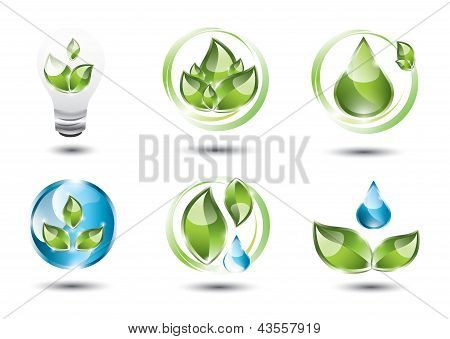 Sustainable icons set