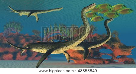 Plesiosaurus submarino