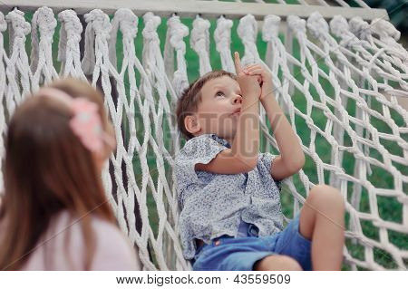 hammock and people
