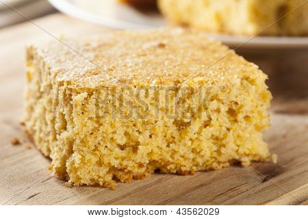 Golden Organic Homemade Cornbread