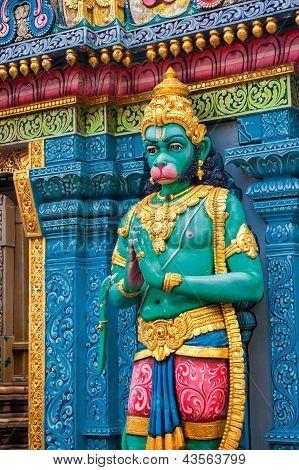 Hanuman Statue At Sri Krishnan Temple, Singapore
