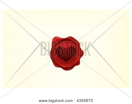 Heart Wax Seal With Envelope