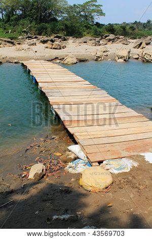 Footbridge Along The Usumacinta River, Chiapas, Mexico