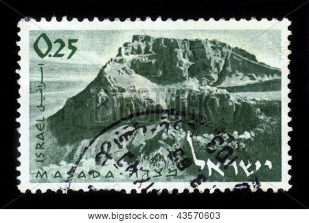 Mountain Masada And Ruins Of Ancient Fortress
