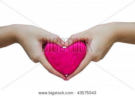 Heart Play Dough
