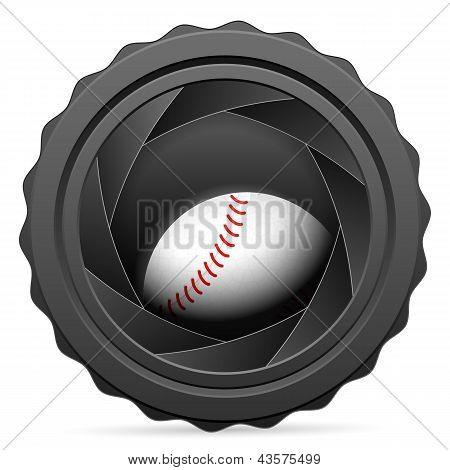 Camera Shutter With Baseball Ball