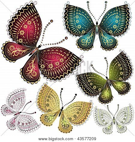 Vintage Schmetterling Set fantasy