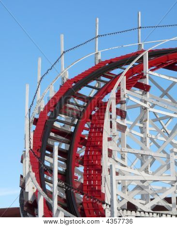 Old Wooden Roller Coaster