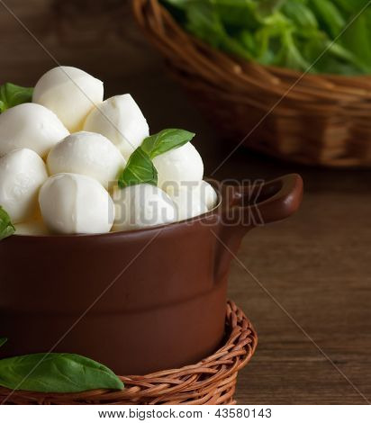 Italian Mozzarella Cheese.
