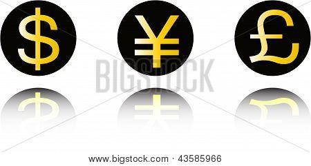 Money symbol set