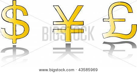 Money symbol set