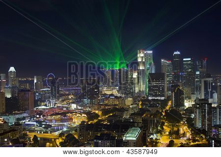 Singapore Central Business District Skyline