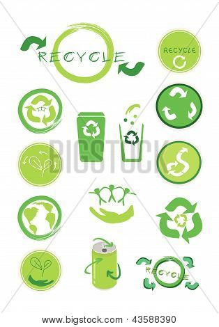 Set Of Ecology Icon For Save The World