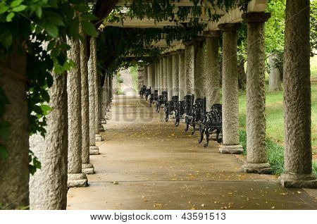 Columns and Ivy in Maymont Gardens