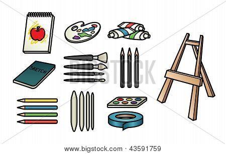 Art Supply Icons